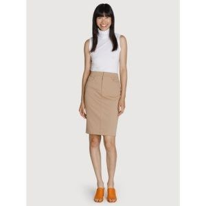 Kit And Ace Tan Mainstay Stretch Midi Skirt